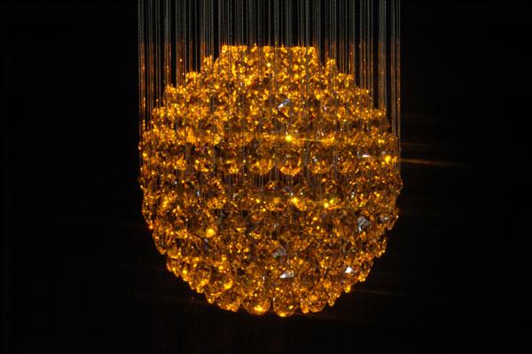 Lampadari in cristallo a fibre ottiche - LAMPADARI CRISTALLO