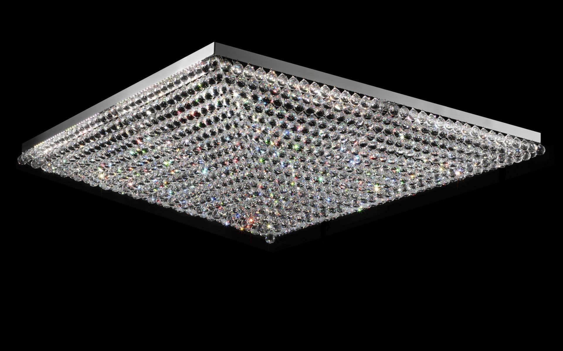 Plafoniere Quadrate Eleganti : Plafoniere in cristallo lampadari