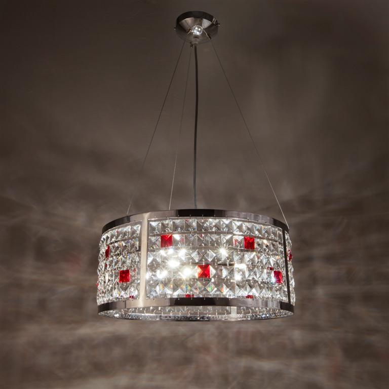 Rosso lucente e bianco brillante  il tuo lampadario di cristallo    LAMPADARI CRISTALLO -> Lampadario Cristallo Eleganti